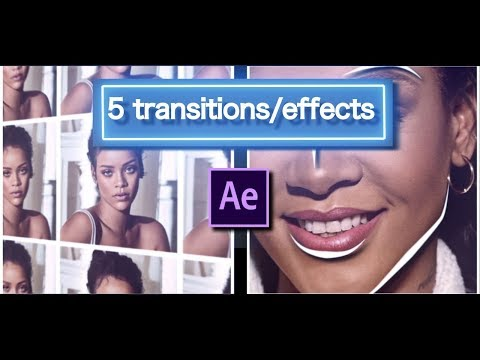 5 transitions/effects - after effects cc tutorial