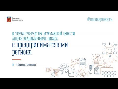 Встреча губернатора Мурманской области Андрея Чибиса с предпринимателями региона.