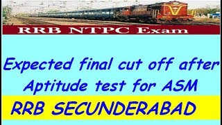 RRB Secunderabad NTPC Cut off After Psycho Test 2017 Video