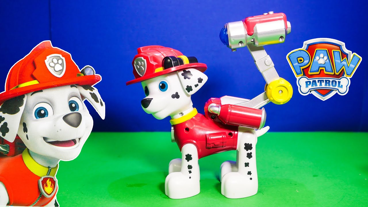 Paw Patrol Jumbo Marshall And Fire Truck Toys Video Unboxing   YouTube