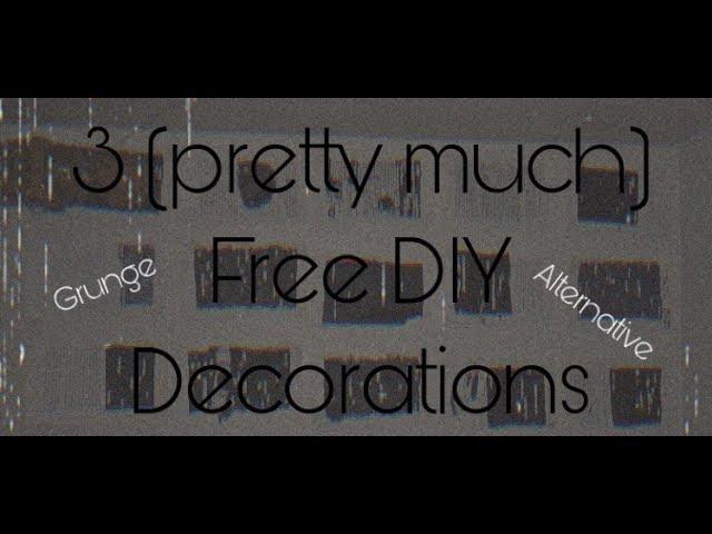 3 Diy Grunge Emo Alternative Room Decorations Youtube