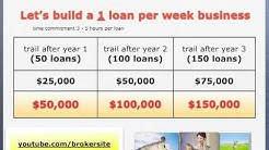 Build a (part time) 1 loan per week mortgage business