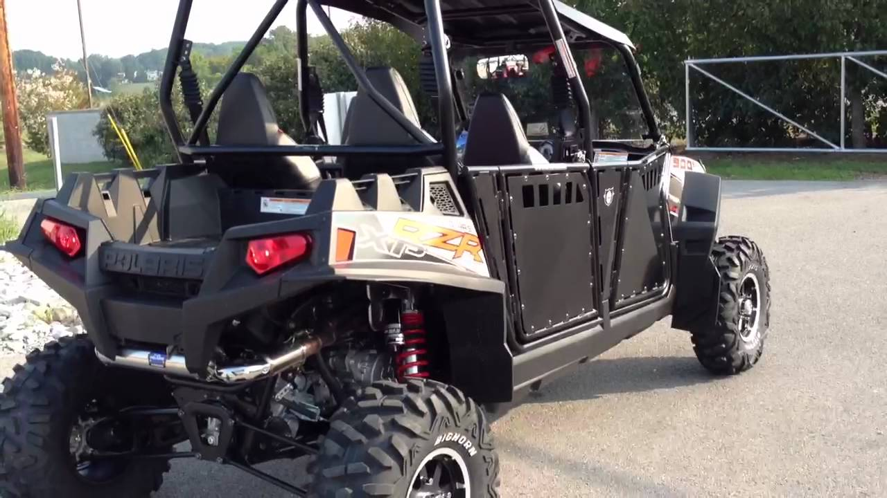 small resolution of 2013 polaris ranger rzr xp 4 900 eps le with yoshimura exhaust and pro armor doors youtube