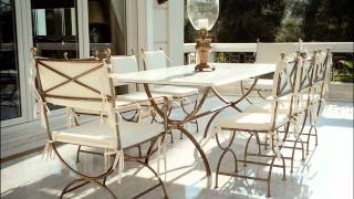 Rich And Classy Pool Furniture - Steel Garden Furniture - Steel Garden Tables - Steel Outdoor Table