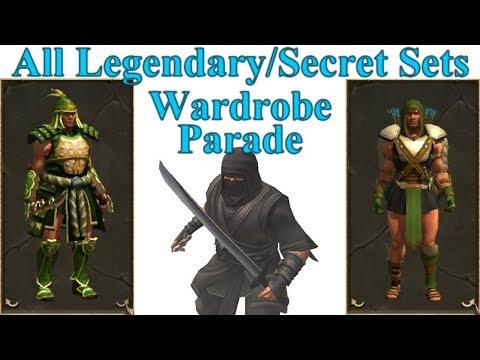 Titan Quest Anniversary All Legendary / Secret Sets Wardrobe Parade