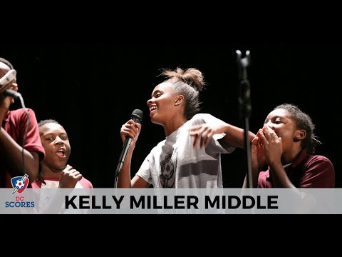 Kelly Miller Middle School performs at 2017 Poetry Slam!