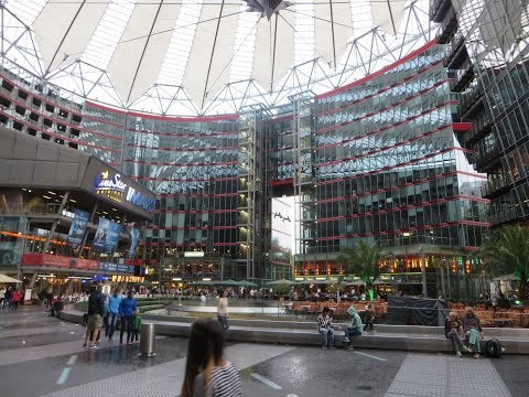 Berlin, Germany: Potsdamer Platz (incl. Sony Center) by day &  Alexanderplatz by night