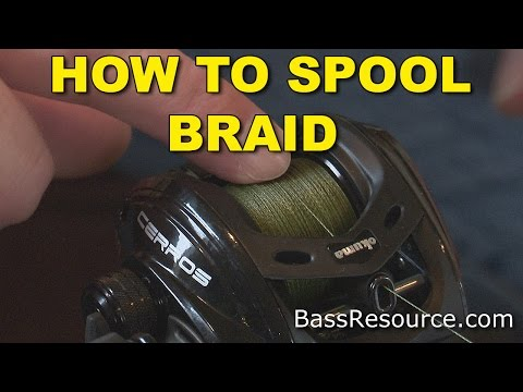 Thumbnail: How To Spool Braid On A Baitcaster | Bass Fishing
