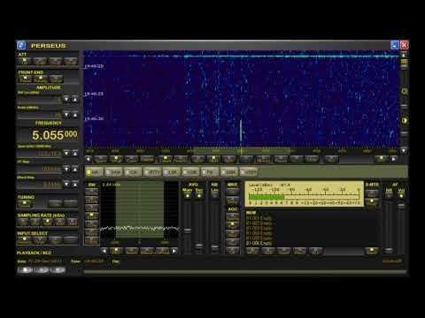 Weak carrier from 4KZ Radio 5055 kHz North Queensland, copied at home in Oxford UK