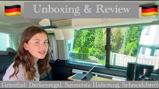Camping@VW T6 California Beąch - Unboxing&Review - Grünthal: Schneidebrett+Deckenregal+Halterung