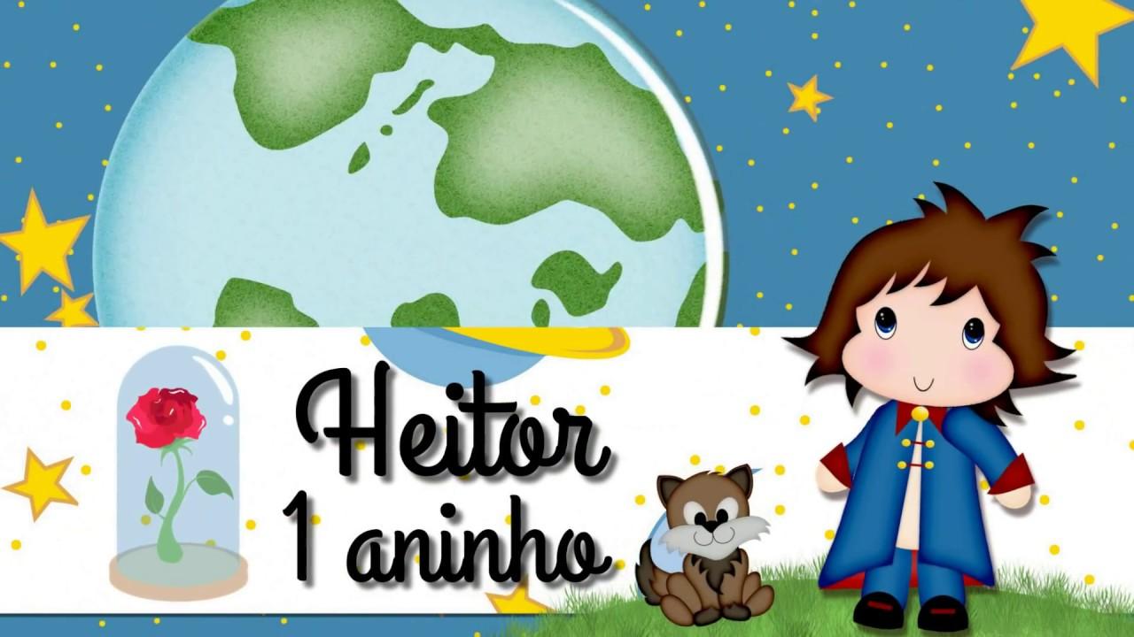 Convite Animado Pequeno Principe Heitor 1 Aninho