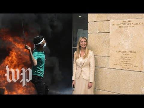 U.S. Embassy opens in Jerusalem, while Palestinian protester
