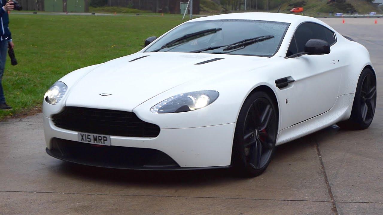 Aston Martin V8 Vantage S W Custom Exhaust System Drifting Youtube
