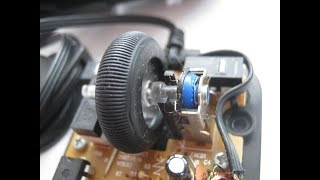 Ремонт колёсика мышки на коленке