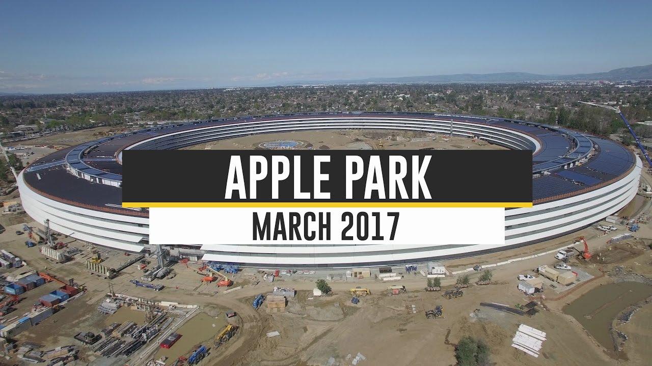 Drone Photography Tracks Progress of Apple Campus Construction
