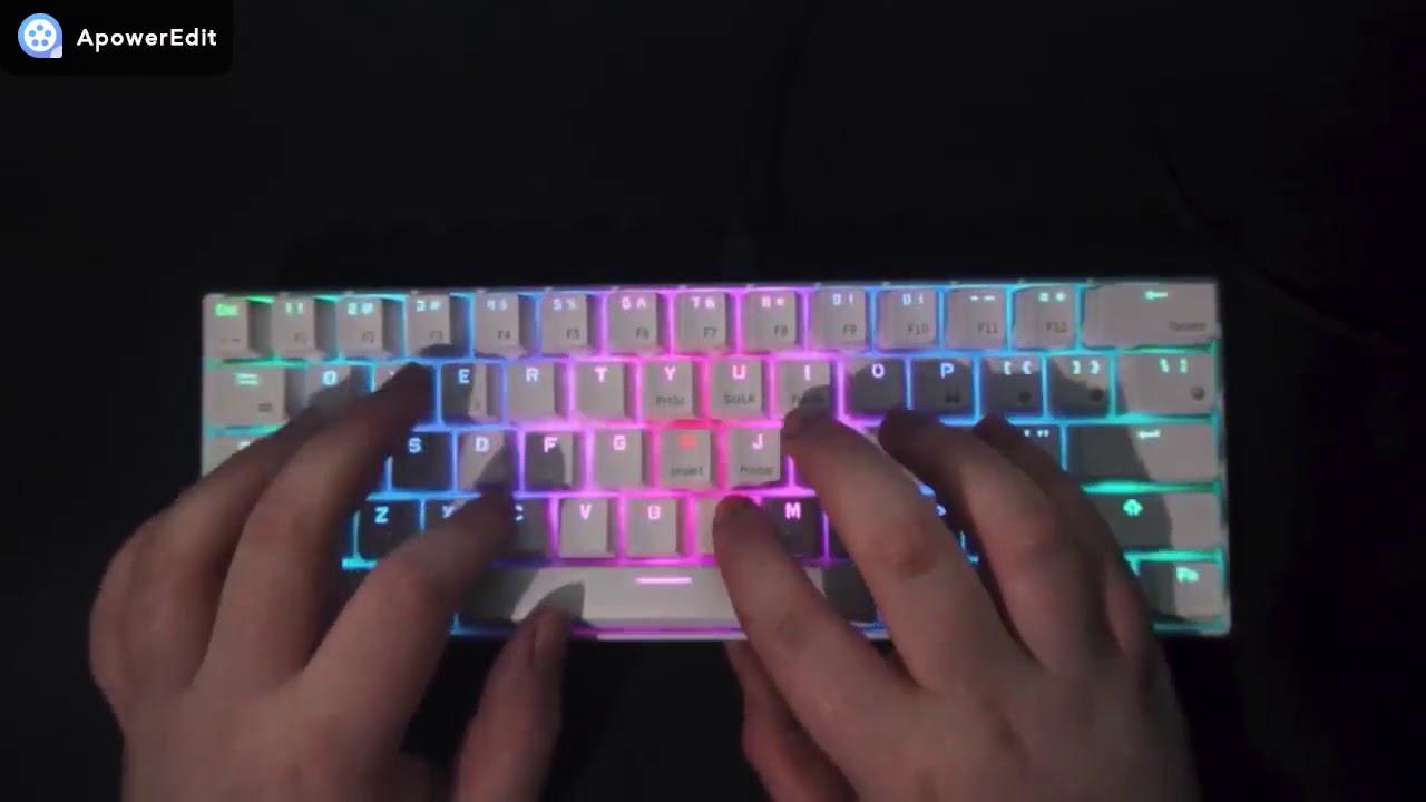 Rk Royal Kludge Rk61 Bluetooth Mechanical Keyboard Full Rgb Version White Youtube