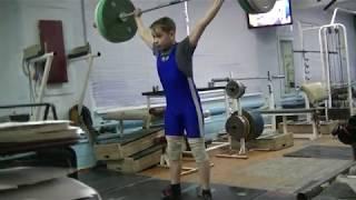 Маклаков Тимур, 14 лет, вк 50 Рывок в пп 50 кг