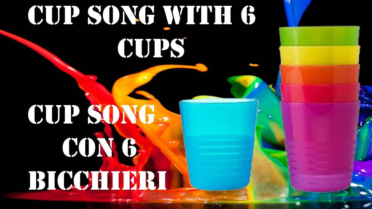 tutorial ita cup song con 6 bicchieri luca marini youtube. Black Bedroom Furniture Sets. Home Design Ideas
