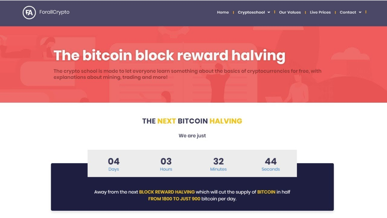 bitcoin halving 2021 countdown