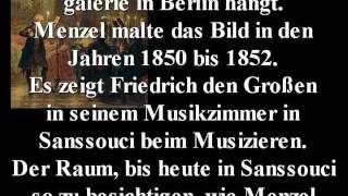 Das Flötenkonzert Friedrich des Großen in Sanssouci (Adolph Menzel, 1852)