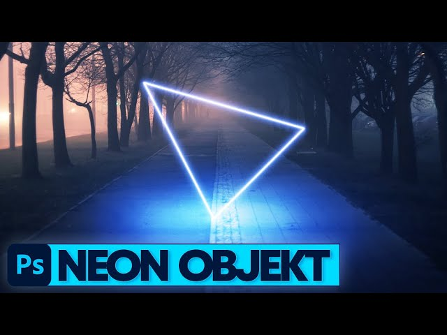 Photoshop Tutorial: Leuchtendes Neon Objekt in Foto einfügen