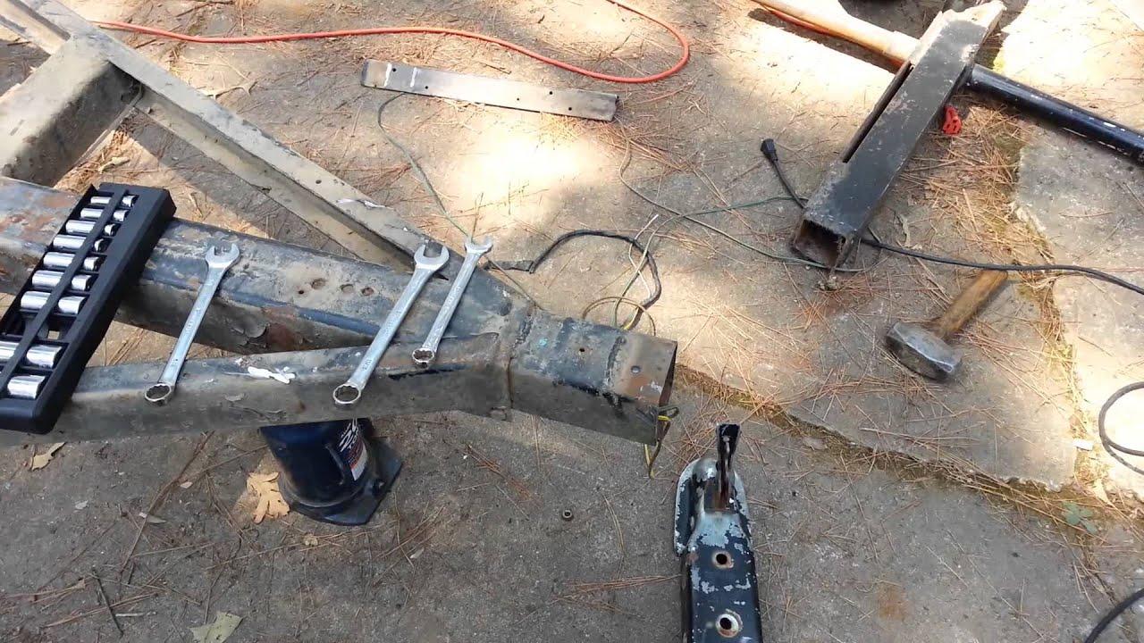 rebuilding a trailer part 1 youtube