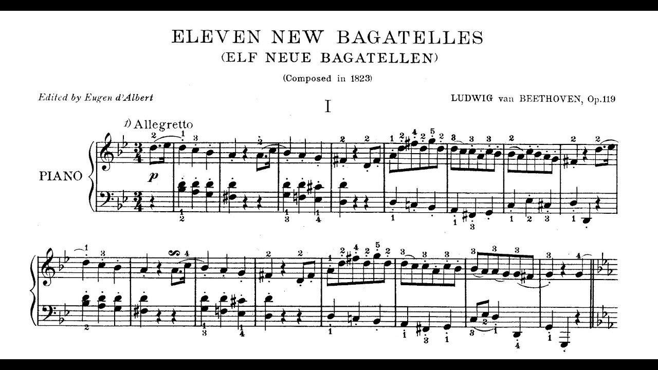Eleven Bagatelles, Op. 119