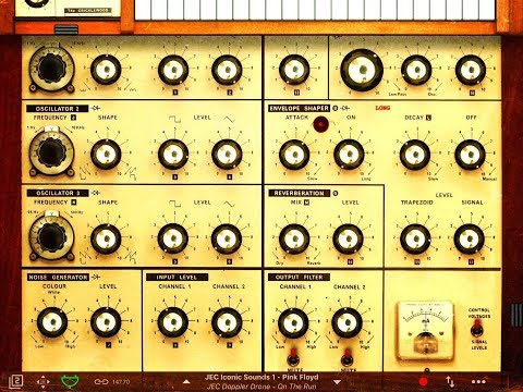 iVCS3 - JEC Iconic Sounds Of Pink Floyd Sound Bank - FREE Pack -  iPad Demo