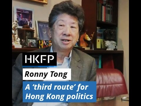 Ex-lawmaker Ronny Tong on why he started a new 'third route' in Hong Kong politics