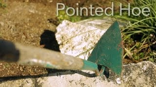 How to Use a Pointed Hoe : Garden Tool Guides