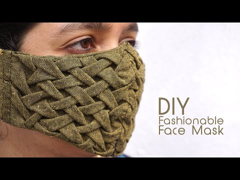 Fashion Face Mask: DIY Smocked Pettern For Beauty & Health