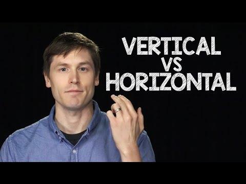 Speaking English:  vertical vs. horizontal speaking