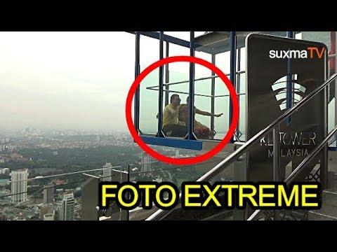 INI DIA FOTO EXTREME DI KETINGGIAN 420 METER SKYDESK KL TOWER MALAYSIA