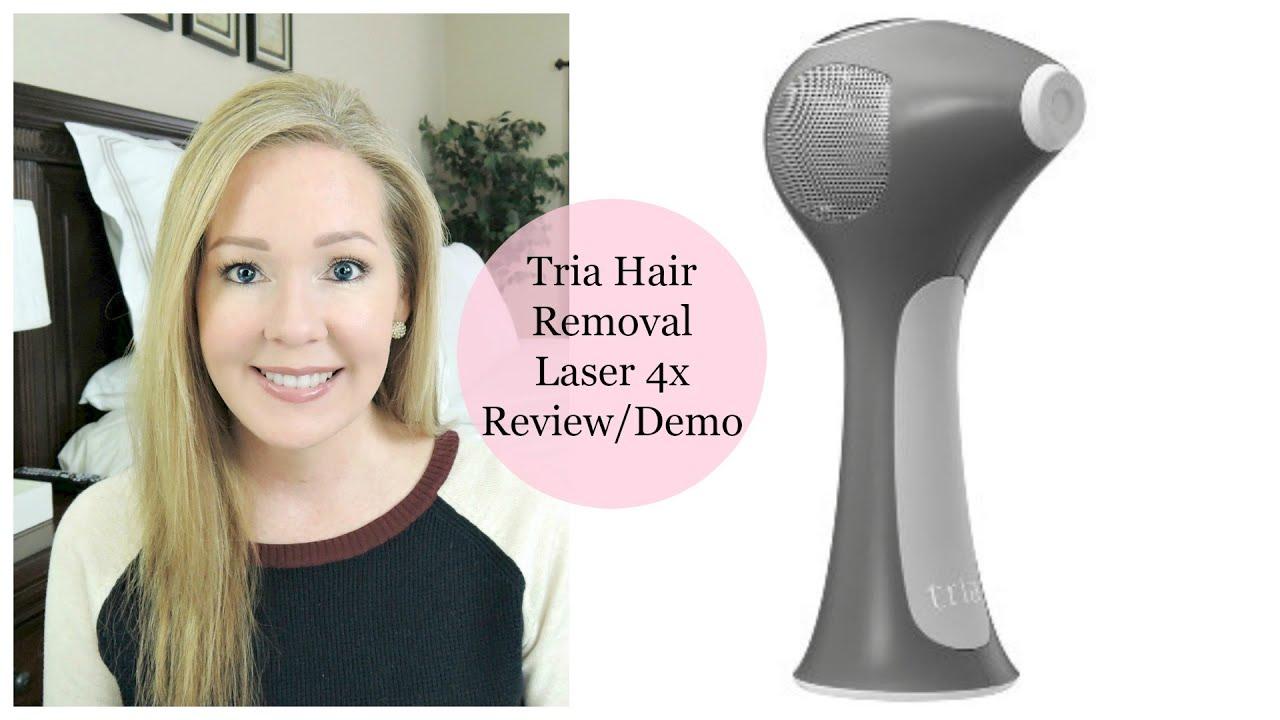 Tria Hair Removal Laser 4x Review  U0026 Demo