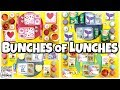 FUN and EASY Lunch Ideas + What They Ate 🍎 Making YOUR lunches