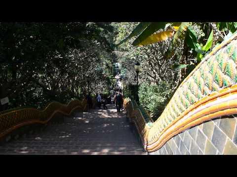 We visit Wat Phra That Doi Suthep near Chiang Mai in Thailand. Part 1
