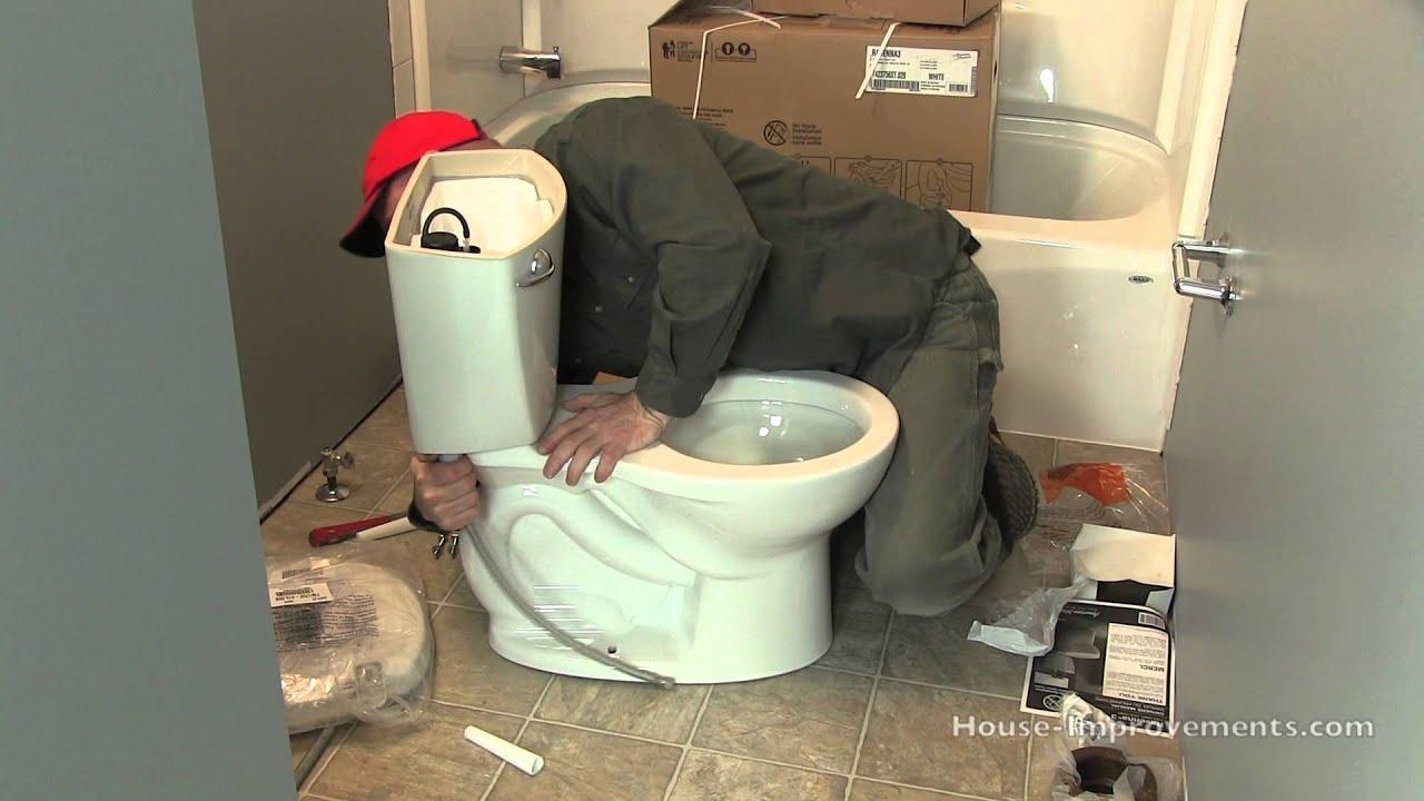how to install a toilet doovi. Black Bedroom Furniture Sets. Home Design Ideas