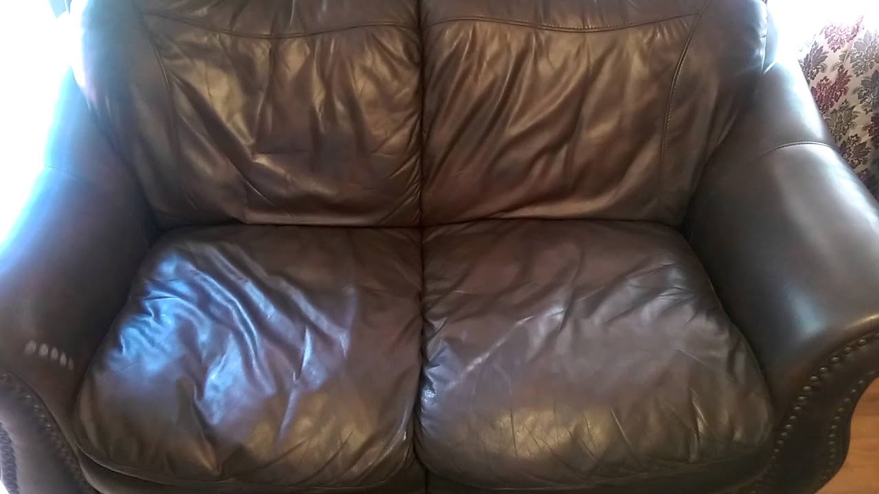 Fixing Old Worn Leather Couches With Rubbing Restore After.   YouTube