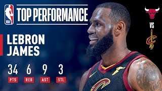 LeBron James Puts On A Show vs The Bulls | Dec. 21, 2017