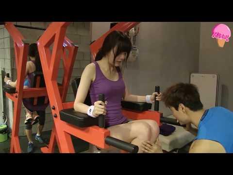 Dal Shabet's Serri in the gym