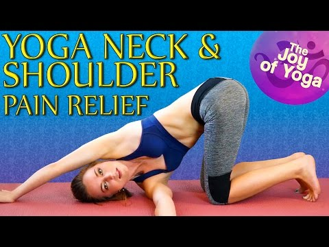 Yoga For Neck Pain & Shoulder Pain Relief – 20 Minute Stretch Workout - Joy Scola