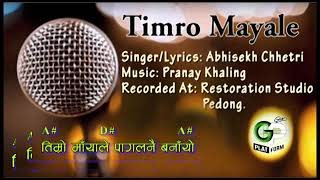 Timro Maya Le ।। Original Karaoke Track । Lyrics Chords । Nepali Christian Son