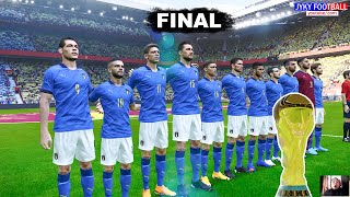 PES 2021 Italy vs Brazil FINAL FIFA World cup 2022 4 Free Kick Goals Full Match HD
