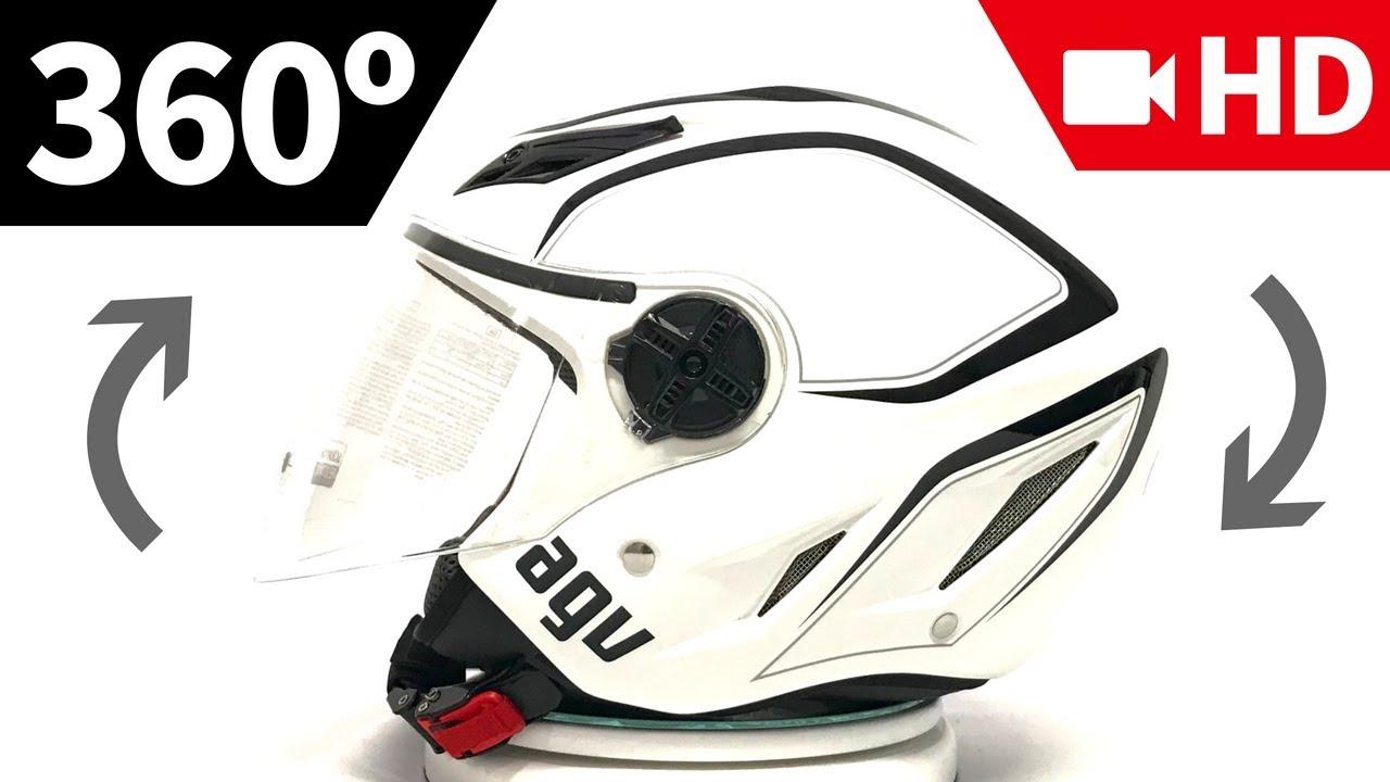 Capacete Agv Blade Aberto Tab Branco Em 360º Hd Grid Motors Youtube