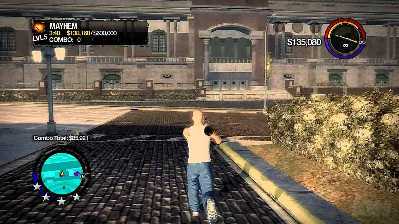 Saints Row Xbox 360 Gameplay