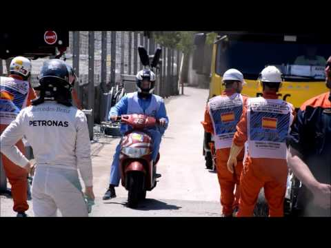 GP Spain 15 may 2016 crash Hamilton and Rosberg first lap Max Versappens first win