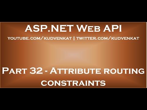 Web API attribute routing constraints