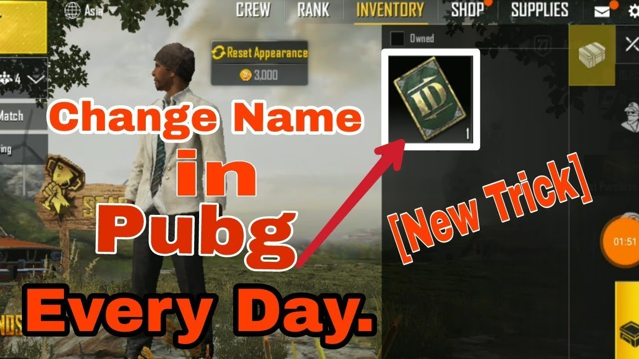 How To Change Name In Pubg Mobile Youtube