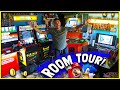 Gambar cover STUNNING GAME ROOM/ARCADE TOUR! Collector Goes From Hoarding To Functional Nostalgic Ambience