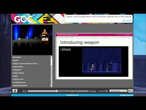 GDC Vault: Classic Game Postmortem - Another World/Out of this World w/ Eric Chahi